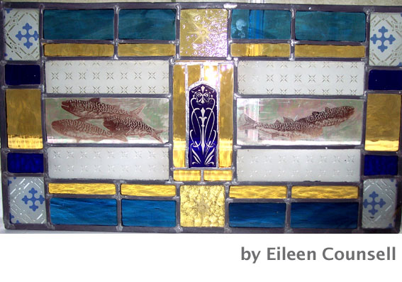 glass panel by Eileen Counsell